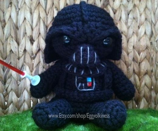 Amigurumi Darth Vader. Kawaii.