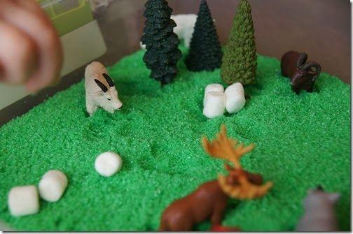 Preschool Science - forest habitat sensory bin with scented homemade ...