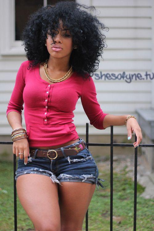 Ebony teen babe with big tits Mary Jean shows off in black shorts № 735973 загрузить