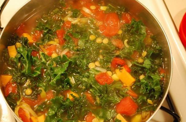 Restorative Vegan Kale, Potato and Sausage Soup