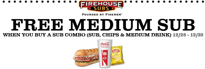 image relating to Firehouse Subs Coupon Printable named Firehouse subs discount coupons 2018 - Least difficult suv hire offers 2018