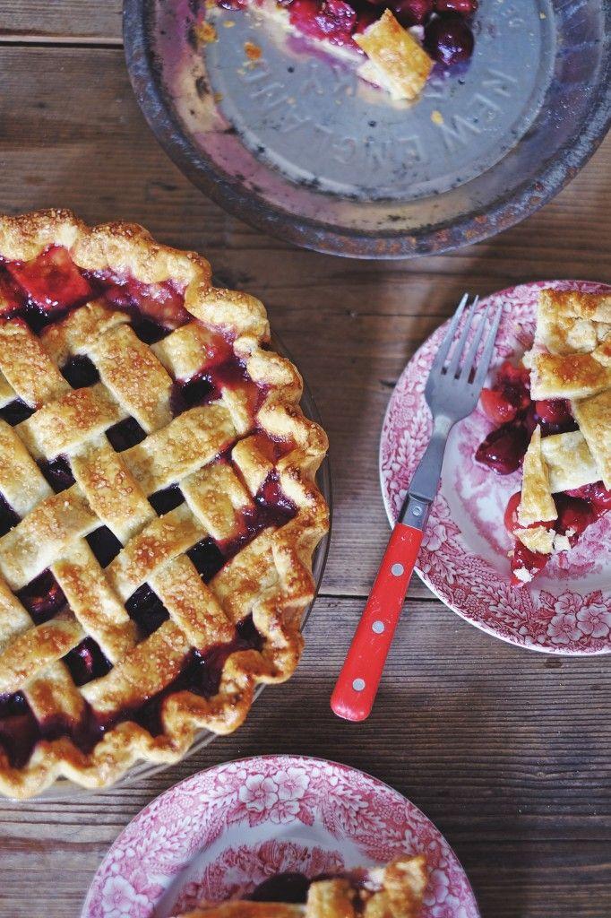 Cherry Pie Using Arrowroot instead of cornstarch to thicken the fruit ...
