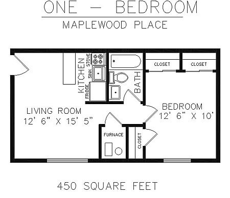 floor plan 450 sq ft house pinterest