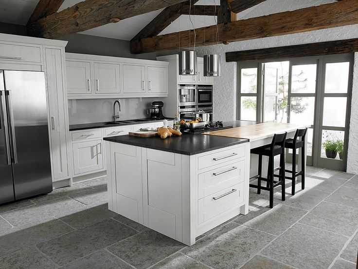 shaker kitchen with island and bench smart residence