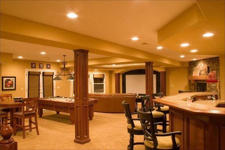 Rec room new home ideas pinterest - Basement rec room ideas ...