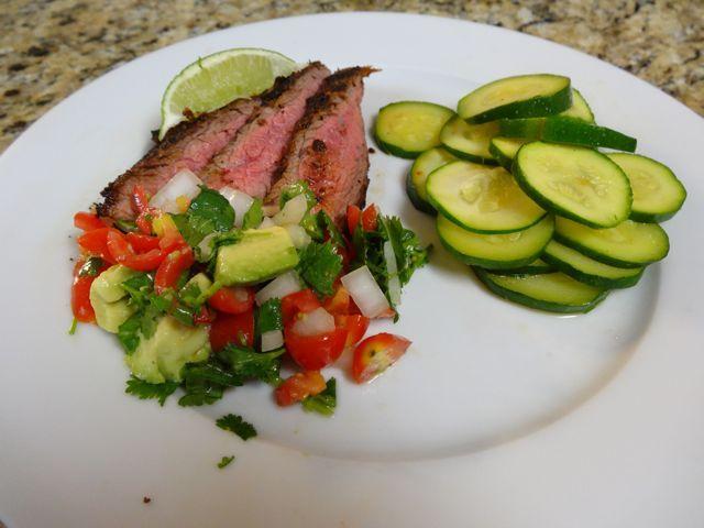 Spicy flank steak with pico de gallo | Paleo/Primal Protein Entrees ...