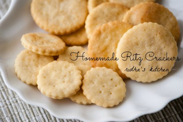 Homemade Ritz Crackers | noms - side things | Pinterest