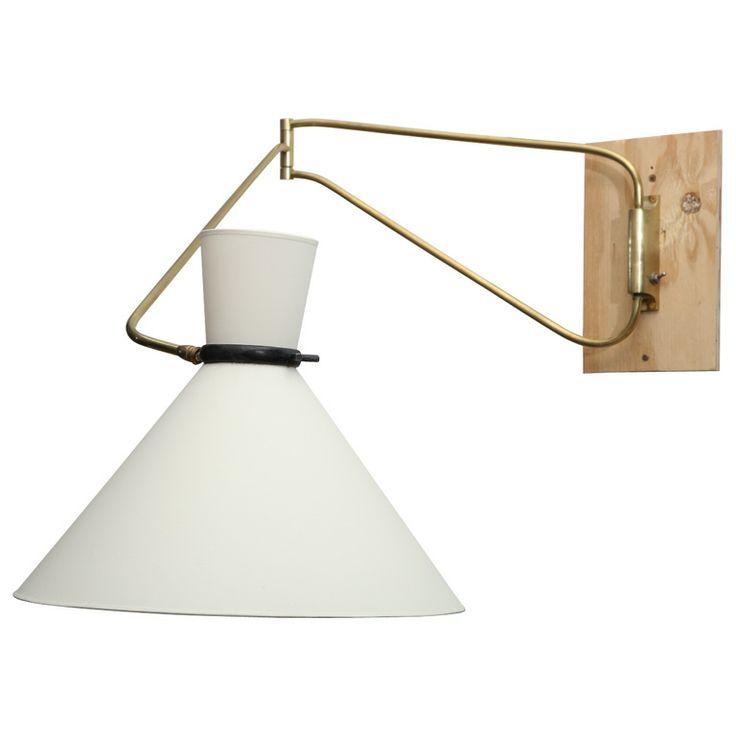 stilnovo wall mounted swing arm lamp pretty please pinterest. Black Bedroom Furniture Sets. Home Design Ideas