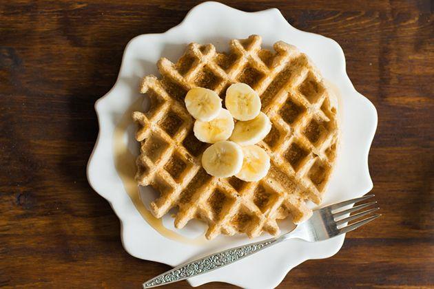 Peanut Butter Waffles. use oat flour skim milk and pb2