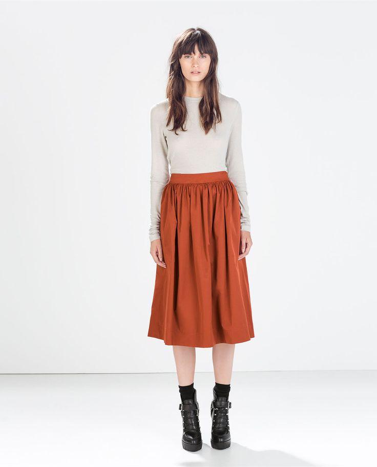 image 1 of midi skirt from zara my style
