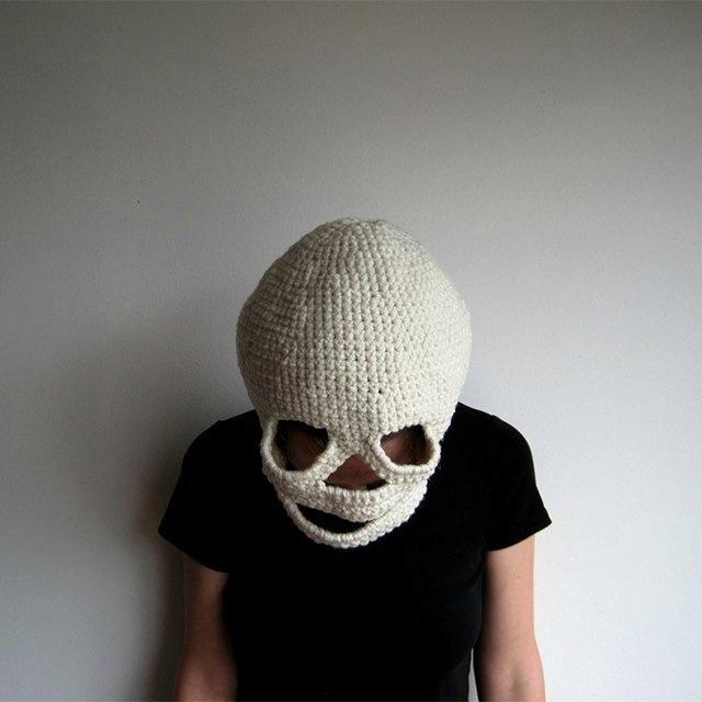 Crocheted skull cap. #badass stuff for melissa Pinterest