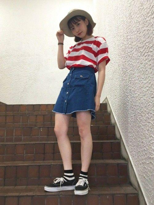 ファッション 夏 高校生