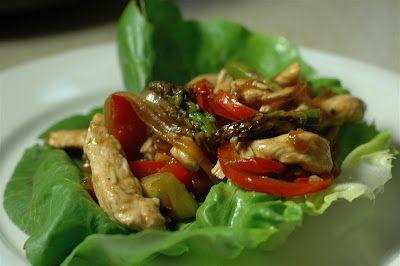 La Bella Cook: Spicy Chicken Stir-Fry Wraps