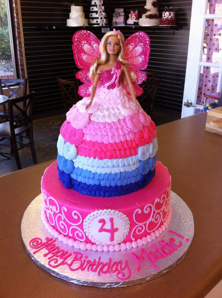 Butterfly Barbie Cake Images : Barbie Butterfly Cake Charlotte s birthday Pinterest
