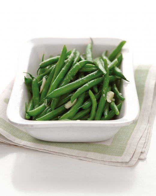 Microwave-Steamed Garlic Green Beans | Recipe
