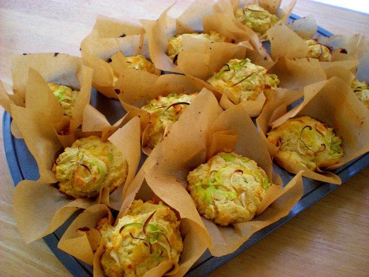 Cheddar and Leek Muffins | Yummy in my Tummy | Pinterest