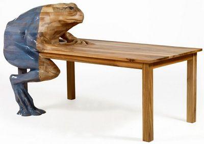 Weird furniture art pinterest for Strange table