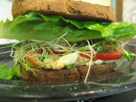 whole grain hummus veggie sandwich | food I have tried and like | Pin ...