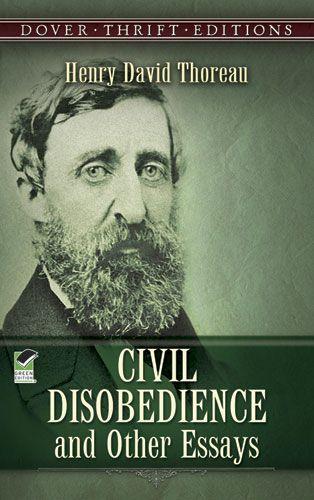 Henry David Thoreau Civil Disobedience Book