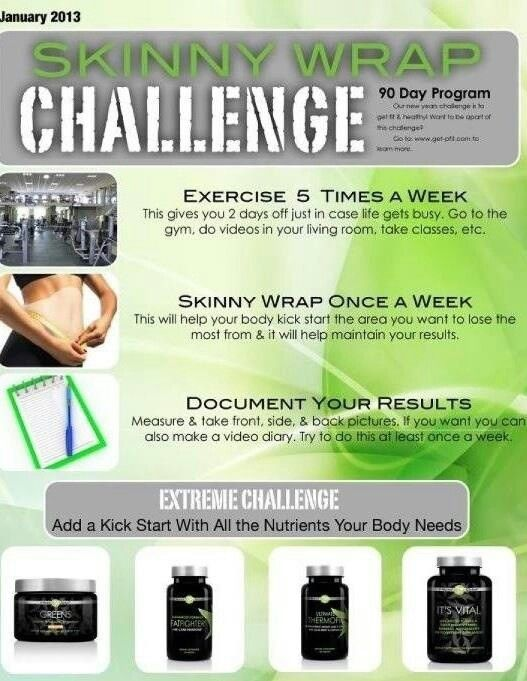 Up for our skinny wrap challenge lovin it works pinterest