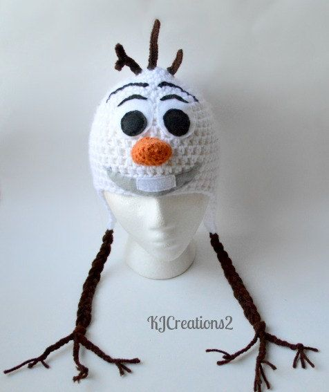 Crochet Pattern Olaf Hat : Free Crochet Olaf Hat Party Invitations Ideas