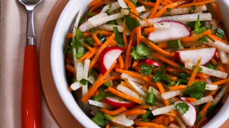 Jicama and Carrot Slaw with Radishes, Cilantro, and Cumin-Lime ...