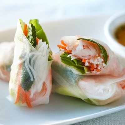 Shrimp and fresh mint salad rolls | Yummy Recipes | Pinterest