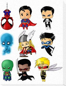how to draw chibi superheroes and villains