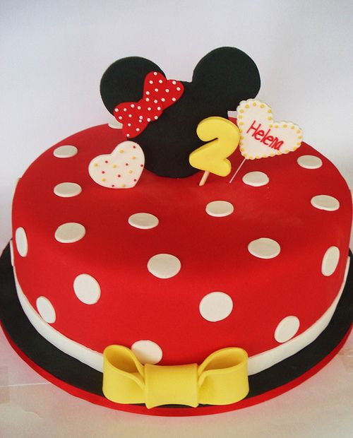 The Mickey Cake..haha my name is on it and its spelled right :)