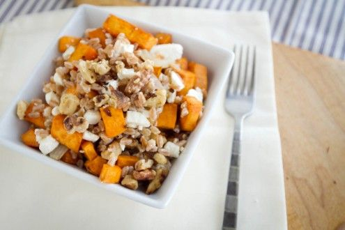 Roasted Sweet Potatoes and Farro | cook it | Pinterest