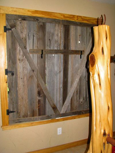 Pin by cyndal mayberry on future home pinterest for Barn door window covering