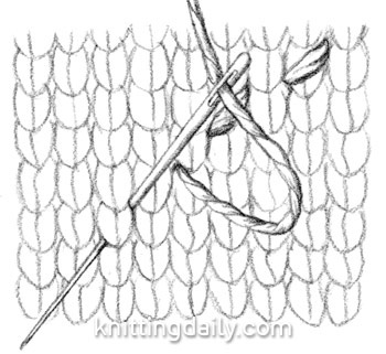 Diagrams Of Knitting Stitches : running Stitch Diagram Knitting Pinterest