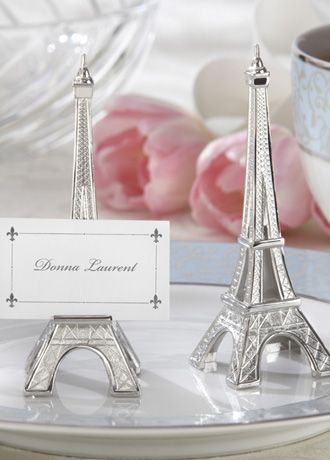 Perfect place card holders for a Parisian wedding.