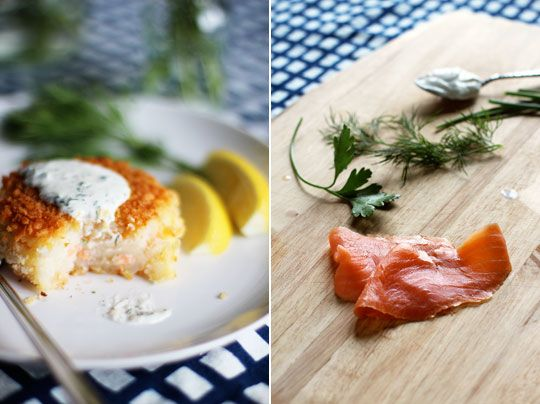 smoked salmon potato cakes with herb creme fraiche and you can make ...