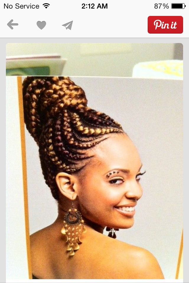 braids #cornrows #updo | Naturally Blessed | Pinterest