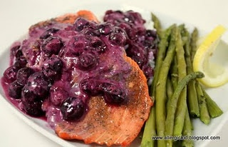 salmon with blueberry sauce | Favorite Recipes | Pinterest