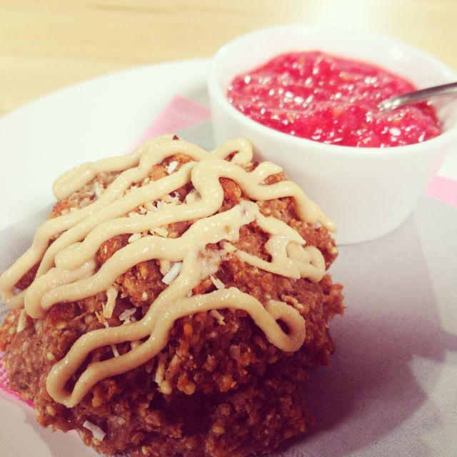 Banana Berry Scone with Cashew Cream & Raspberry Jam - #glutenfree and ...