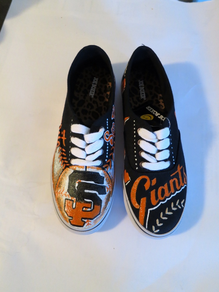SF Giants hand painted shoes http://lorenerh.com