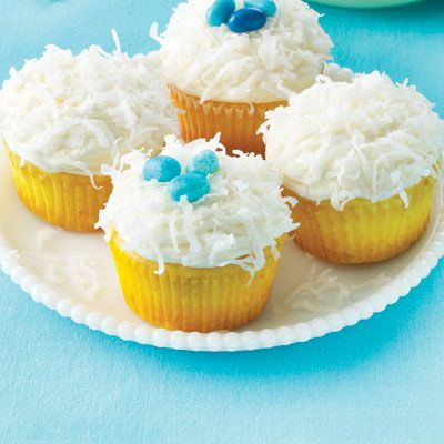 Lemon Coconut Cupcakes | Land O'Lakes - Pin this recipe and we will ...