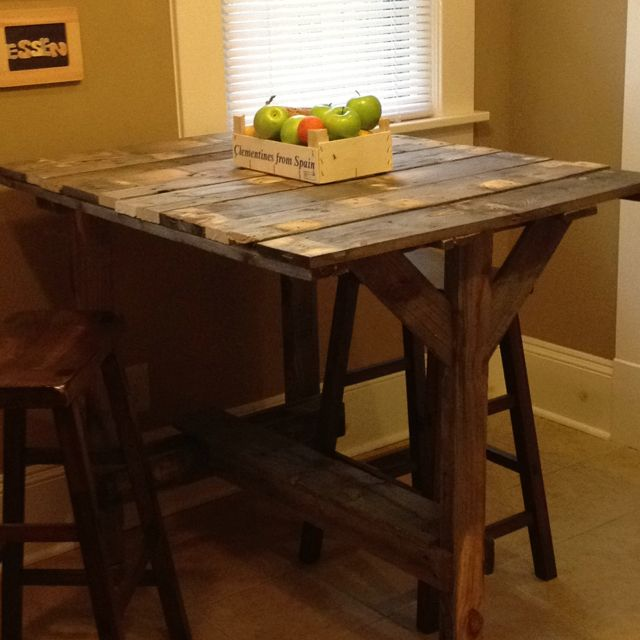 high top pallet table made by gar pallet furniture