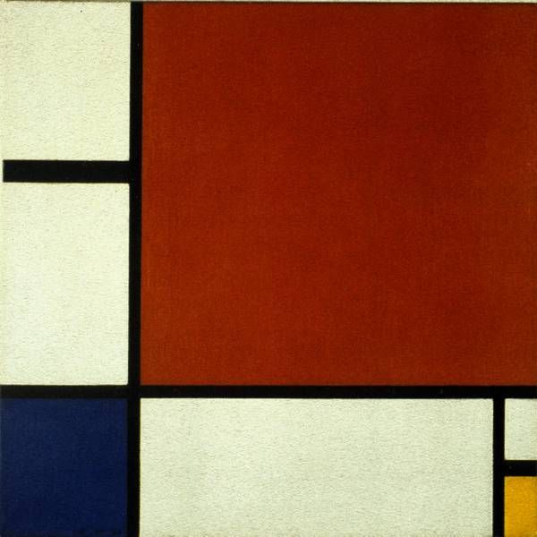 Composition II in Red, Blue and Yellow by Piet Mondrian