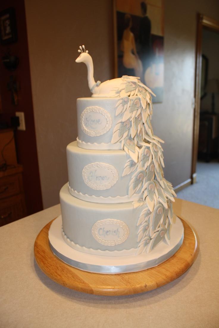 Peacock Wedding Cake Wedding Cakes Pinterest