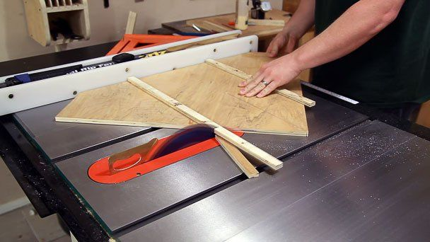 Table Saw Miter Sled Tutorial Workshop And Tools Pinterest