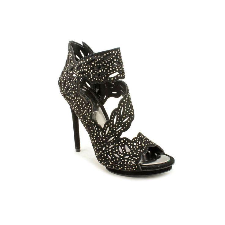 BCBG Max Azria Faricia Open Toe Kid Suede Dress Sandals Shoes