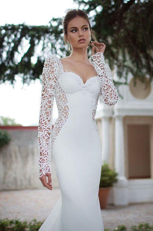 The stylish wedding dress trend embellished sleeves for Chic modern wedding dresses