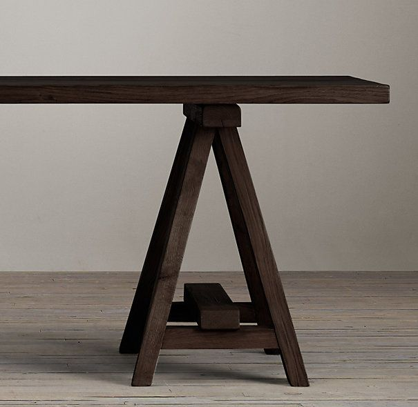 TRINITY DINING TABLE 3195 3995 Classic Sawhorse Legs Support The