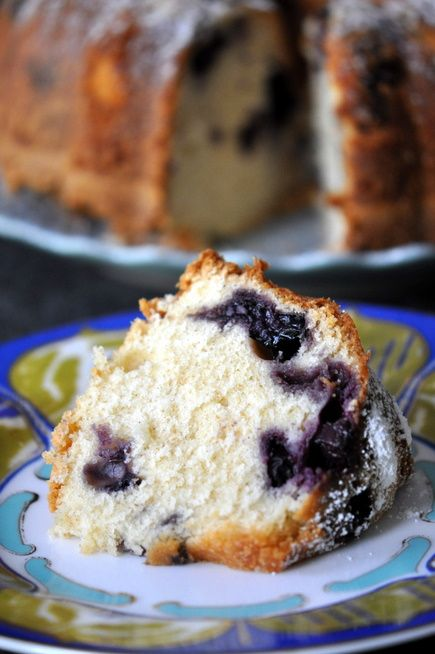 Blueberry-Sour Cream Pound Cake With Lemon Cream Recipe — Dishmaps