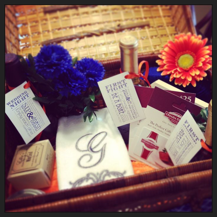 Gift Basket Ideas For A Wedding : Pinterest Wedding Gift Basket Ideas Party Invitations Ideas