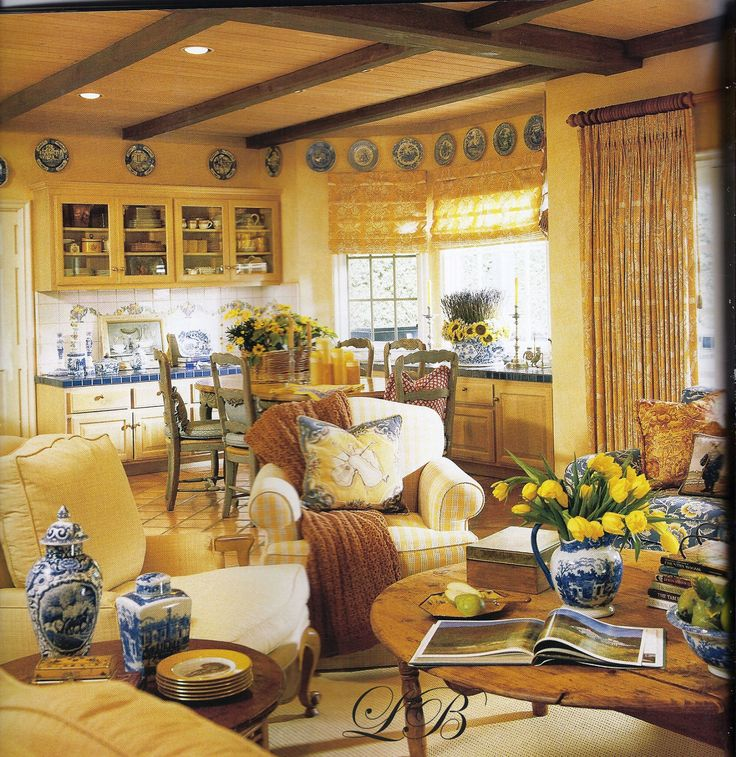lovely yellow and blue decor kitchen pinterest