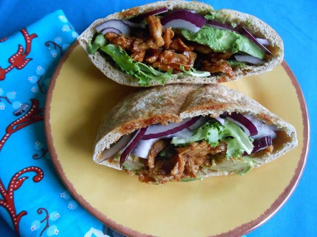 Spicy BBQ Avocado Pita Sandwich   Food - It's a Wrap!   Pinterest